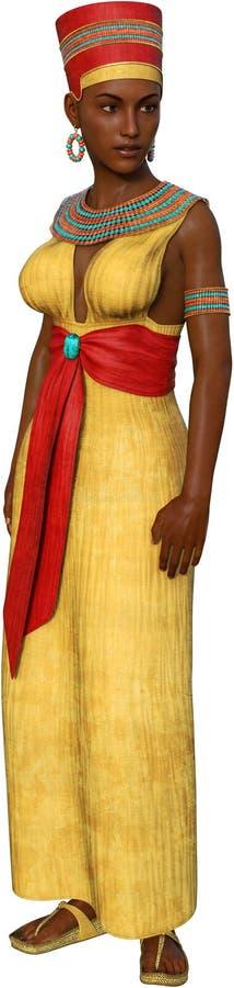 Egito, rainha egípcia, mulher, isolada ilustração stock