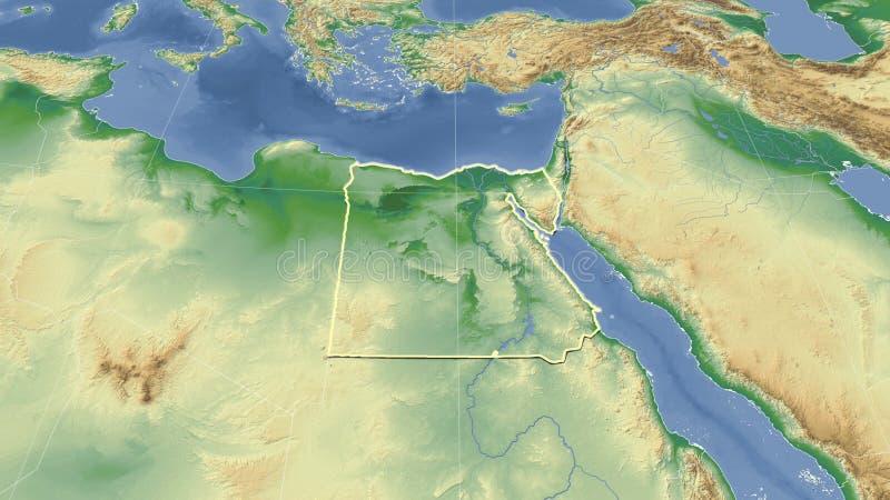 Cartina Egitto In Italiano.Mappa Fisica Dell Egitto Illustrazione Vettoriale Illustrazione Di Africa 131146065