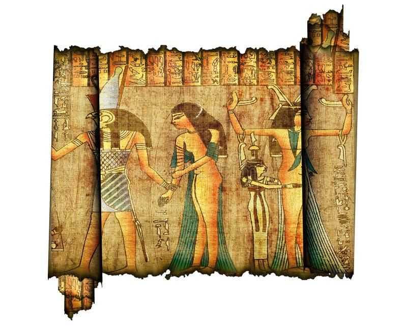 egiytian gammal papyrusrulle