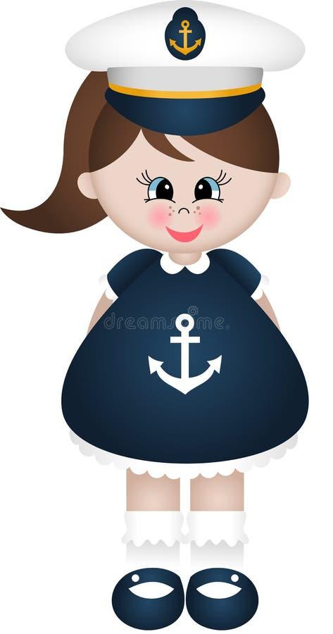 Żeglarz dziewczyna ilustracji