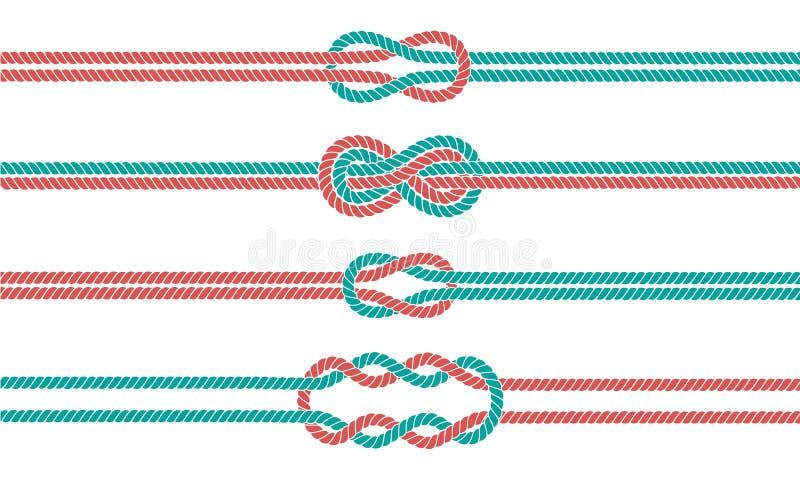 Żeglarz kępka i arkan dividers ustawiający granicy i royalty ilustracja