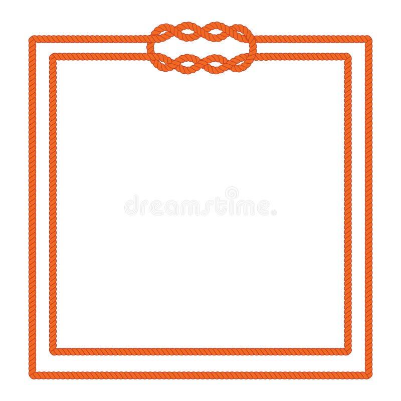 Żeglarz kępki obrazka linowa rama ilustracji