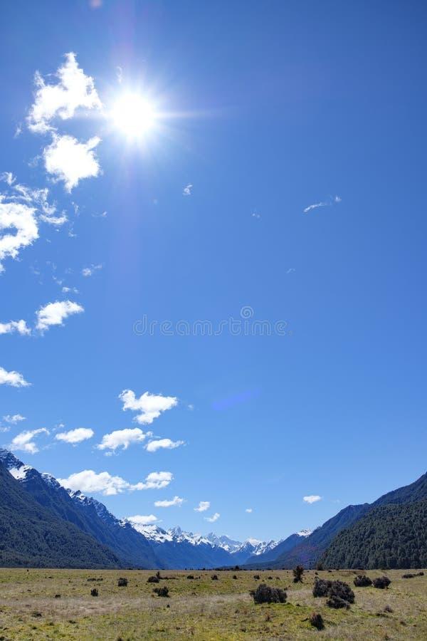 Eglinton谷,Fjordland国立公园,南岛新西兰 图库摄影