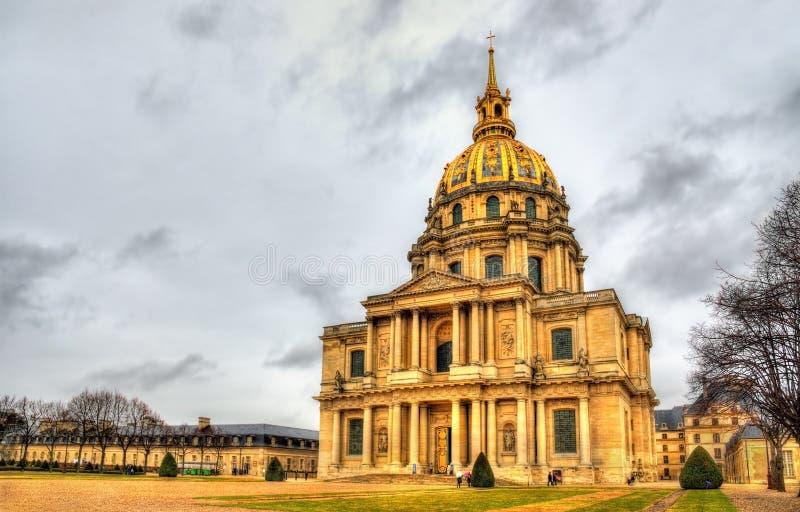 Eglise du Dome en Les Invalides fotografía de archivo