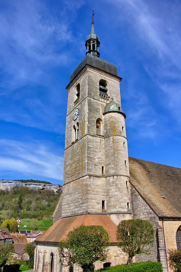 Eglise Saint Laurent em Ornans imagem de stock royalty free