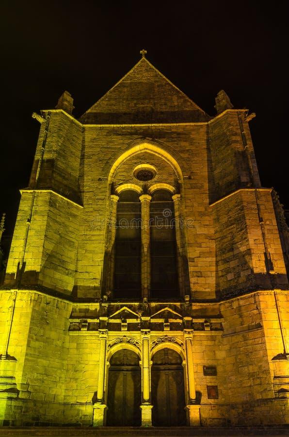 Eglise Saint Malo kyrka i Dinan, Frankrike arkivfoto