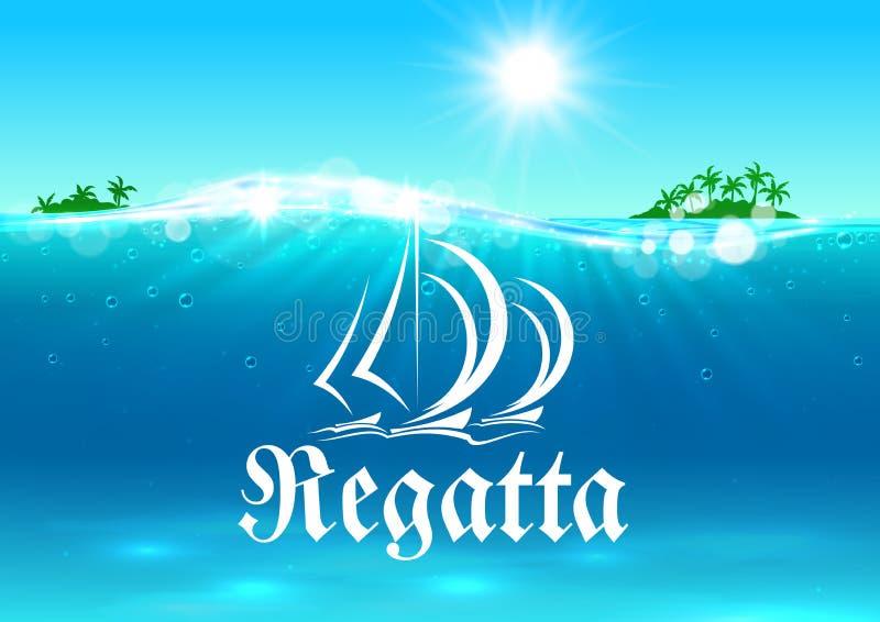 Żeglować sporta i regatta symbol royalty ilustracja