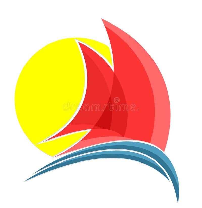 Żeglowania naczynia logo royalty ilustracja