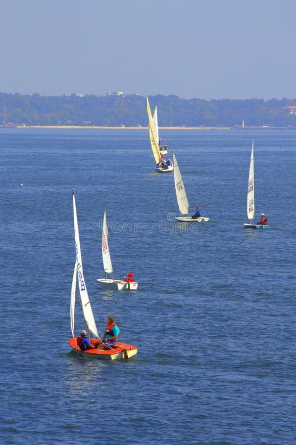 Żeglowanie łodzi rasa zdjęcia stock
