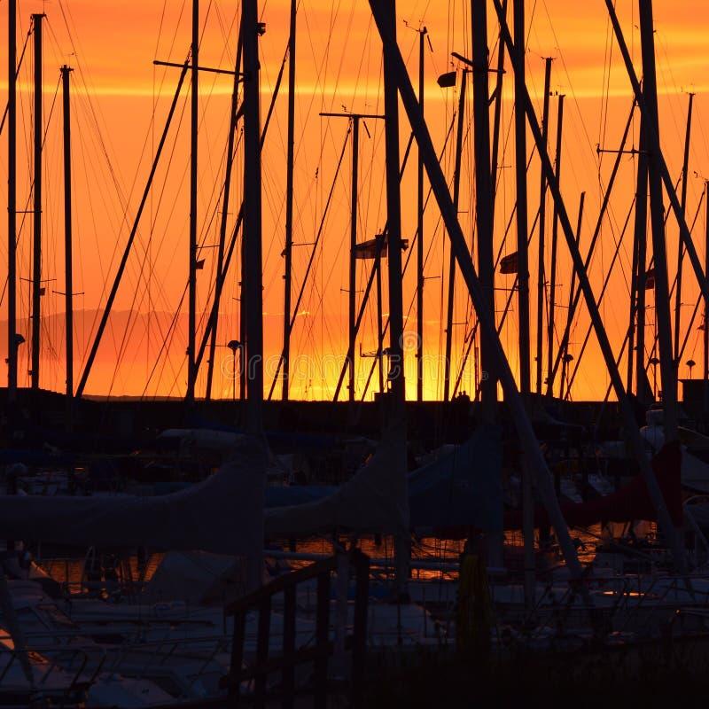 Żeglowanie łodzie fotografia royalty free