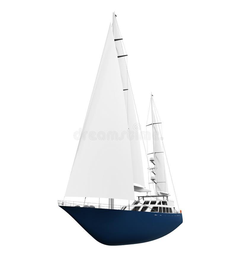 Download Żeglowanie Jacht Odizolowywający Ilustracji - Ilustracja złożonej z leisure, błękitny: 57655568