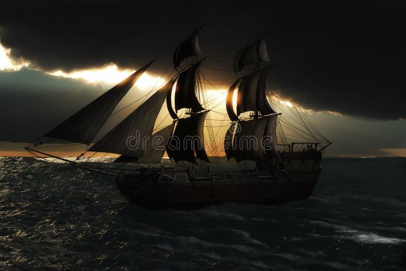 Żeglowanie statek obrazy stock