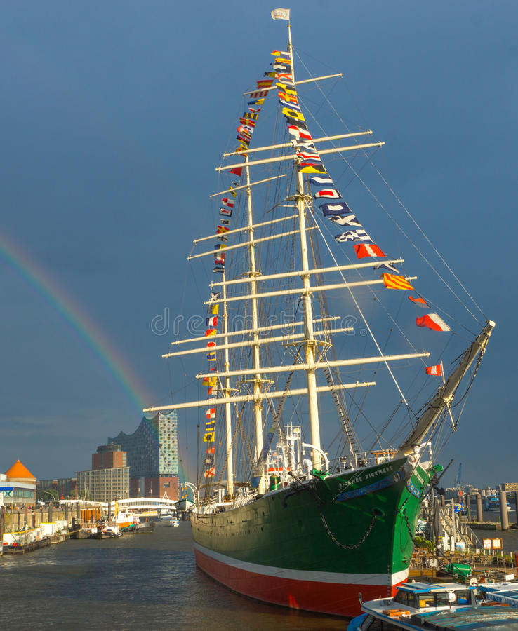 Żeglowanie statek Rickmer Rickmers obraz royalty free