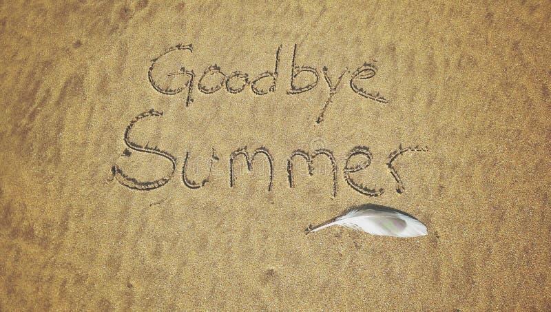 Żegnaj lato obraz stock