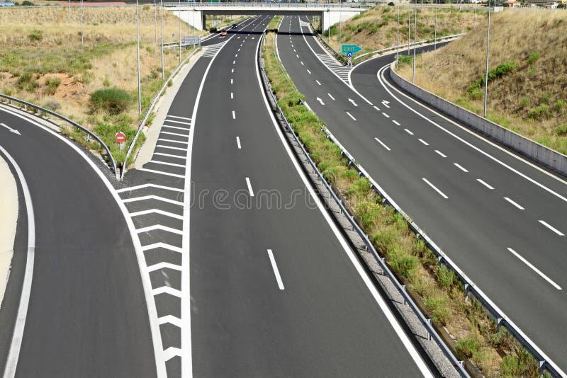 Egnatia motorway i Grekland royaltyfria bilder