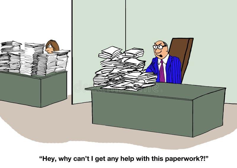 Egoïstische Werkgever vector illustratie