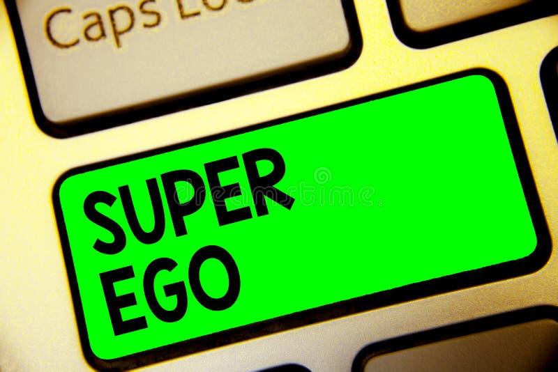 Ego eccellente del testo di scrittura di parola Concetto di affari per la I o auto di chiunque che sta autorizzando la sua intera immagini stock
