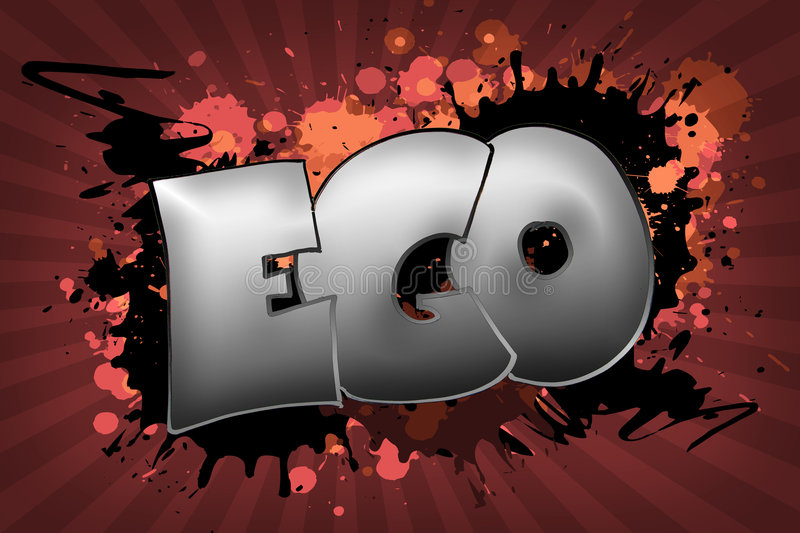 Ego Grunge stock illustratie