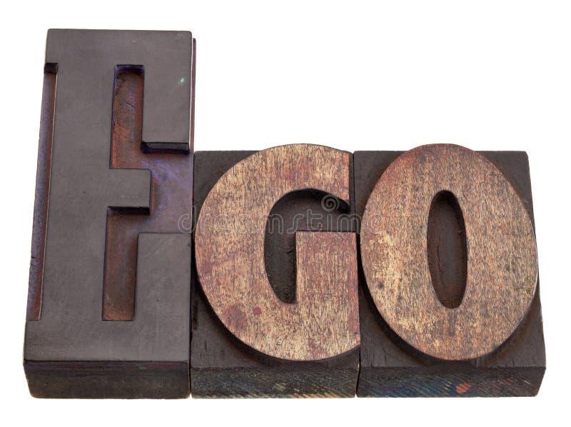 egoboktrycktyp ord arkivfoton