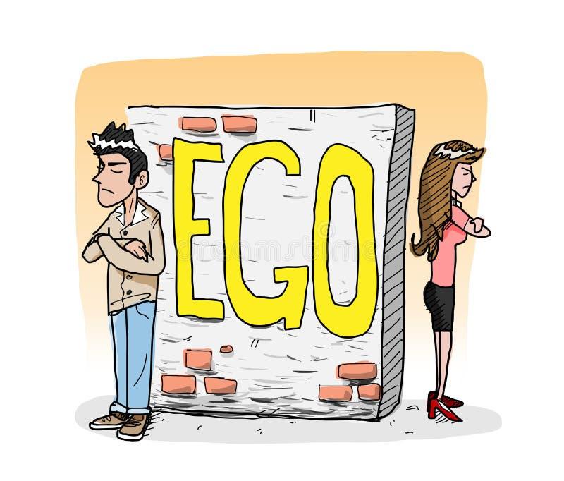 egocentriskt vektor illustrationer