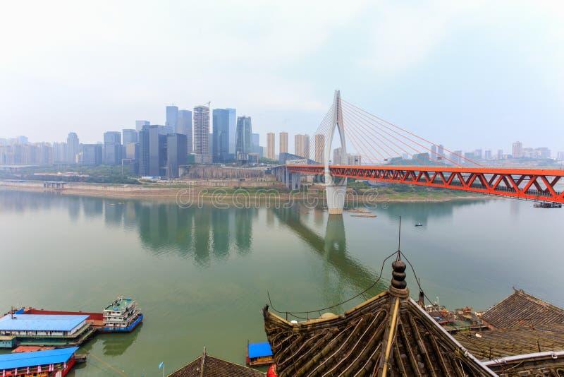 Egongyanbrug in Chongqing stock foto's