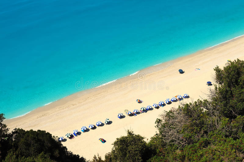 egremni Ελλάδα Λευκάδα παραλιών στοκ φωτογραφίες