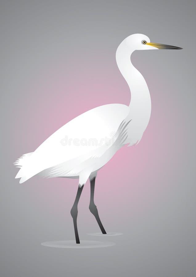 egret иллюстрация вектора