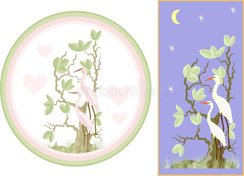 Egret ilustração stock
