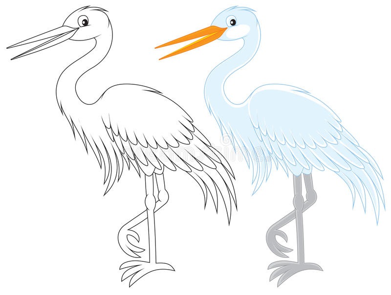 Egret royalty free illustration