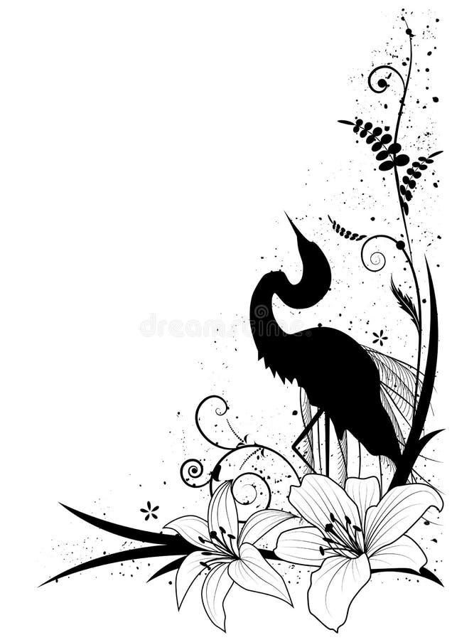 Egret i leluja royalty ilustracja