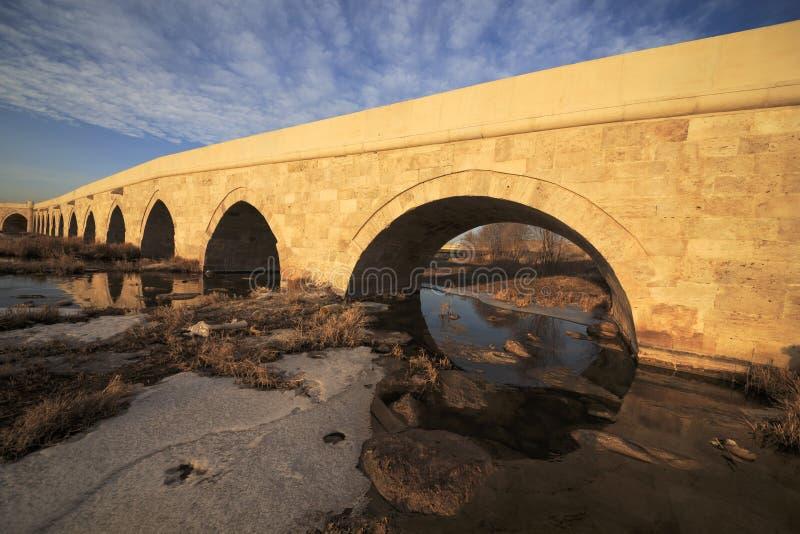 Egri桥梁在锡瓦斯,土耳其 库存图片