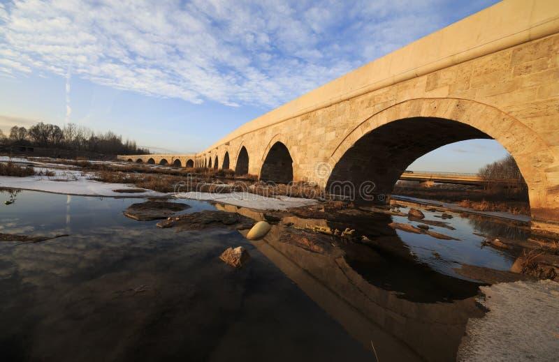 Egri桥梁在锡瓦斯,土耳其 免版税库存图片