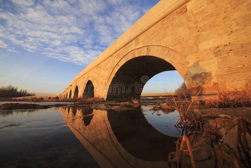 Egri bro i Sivas, Turkiet arkivfoton