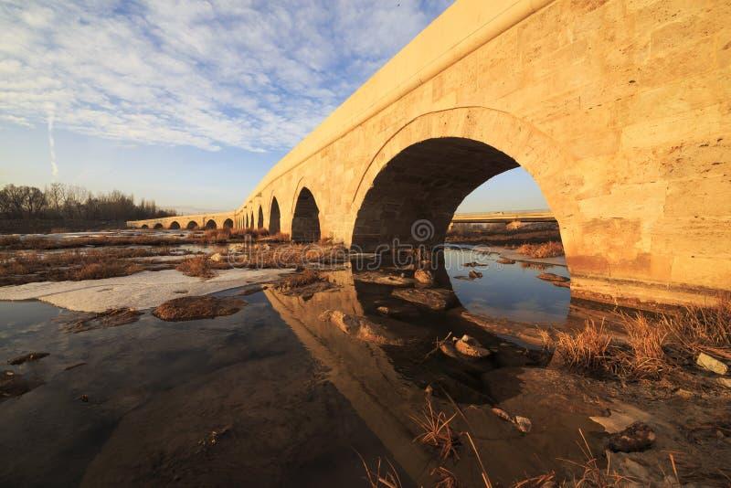 Egri bro i Sivas, Turkiet royaltyfria foton