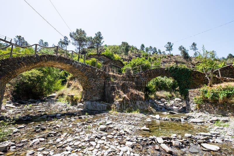 Egua do ` de Foz d, Piodao Portugal fotos de stock royalty free