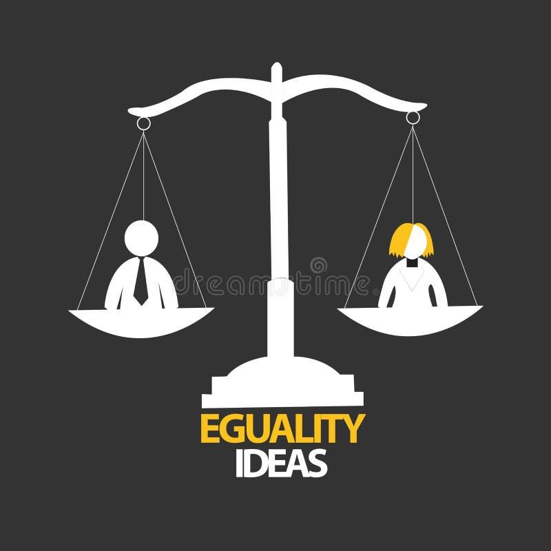 Eguality idédesign royaltyfri bild