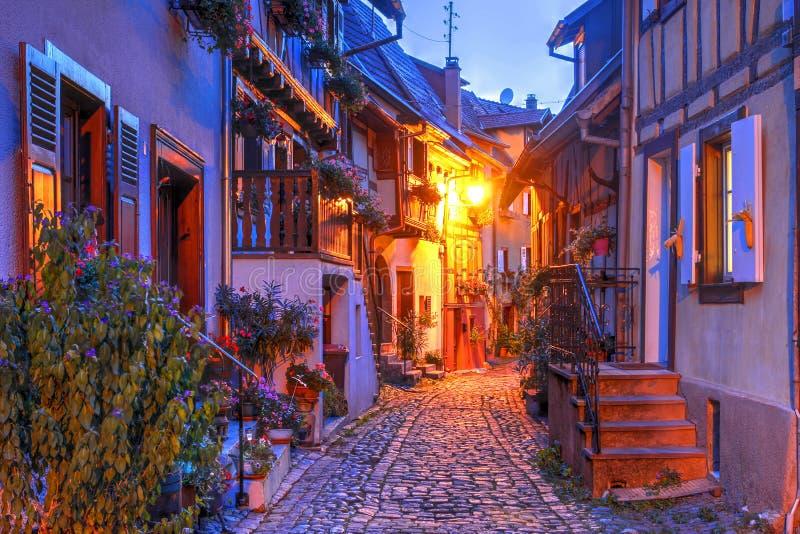 Eguisheim, Alsace, France stock images