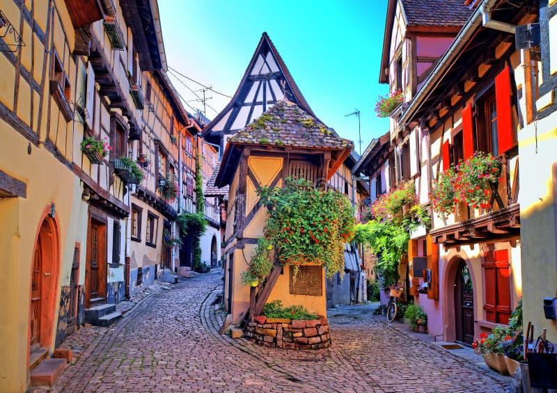 Eguisheim, Alsace, Francja zdjęcie royalty free