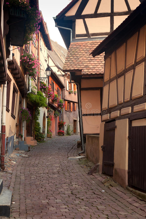 Download Eguisheim Alsace village stock image. Image of style - 25154103