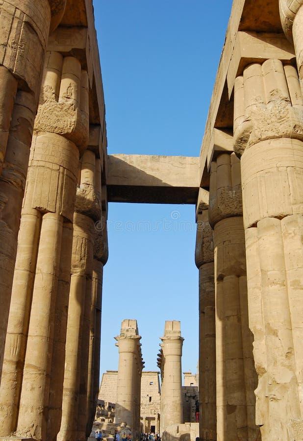egypt świątynia Luxor zdjęcia stock