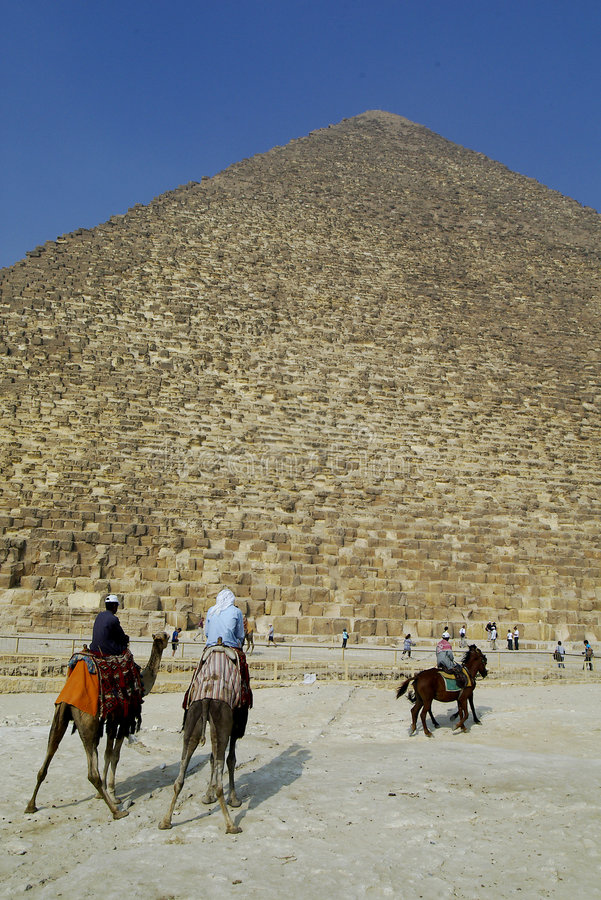 Egypt. Pyramids in Giza smooth stock photography