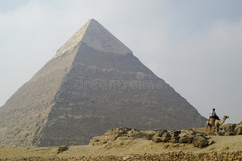 Egypt. Pyramids in Giza smooth royalty free stock image