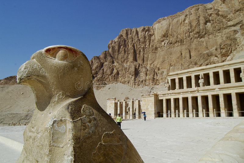 Egypt. Hatshepsut's tomb in a queen's valley stock photography