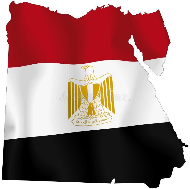 Egypt. Map of Egypt and Egyptian flag illustration