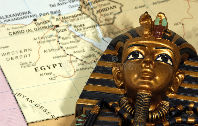 Egypt. Map of Egypt royalty free stock photo