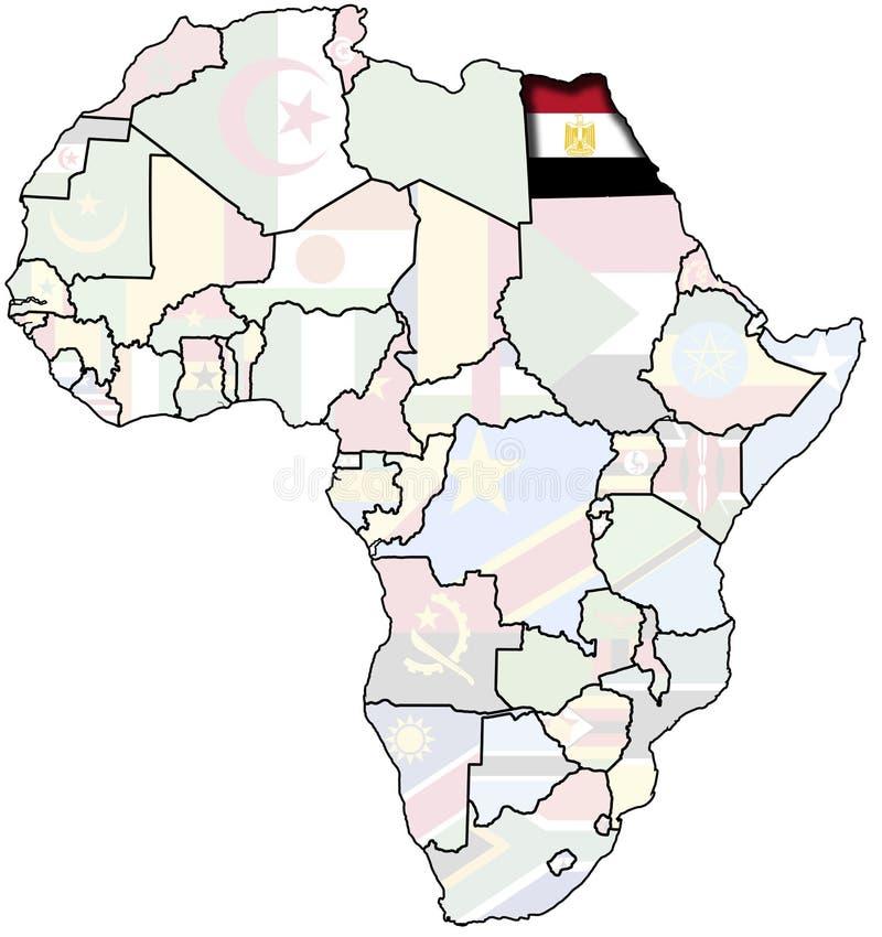 Egypt on africa map stock illustration Illustration of paper 10615906