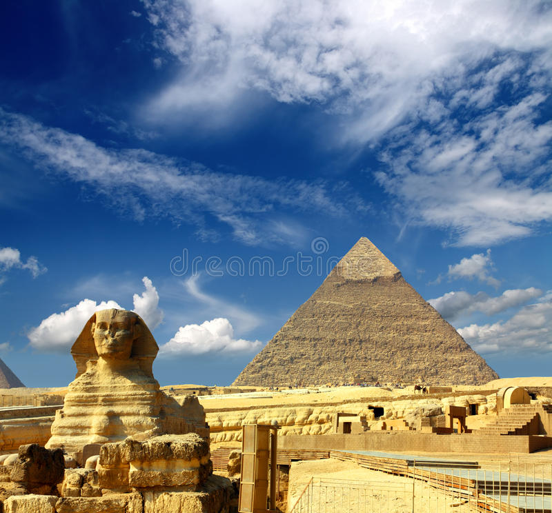 Free Egypt Cheops Pyramid And Sphinx Royalty Free Stock Photos - 22938118