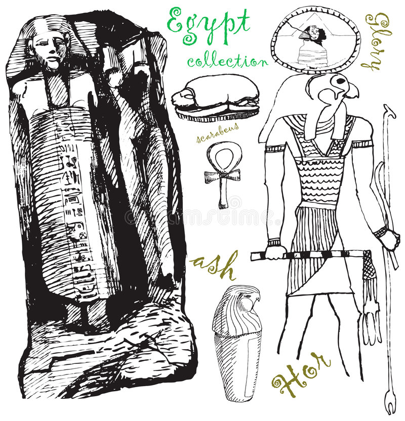 Download Egypt collection 3 stock vector. Image of collection, archaeologist - 7402212