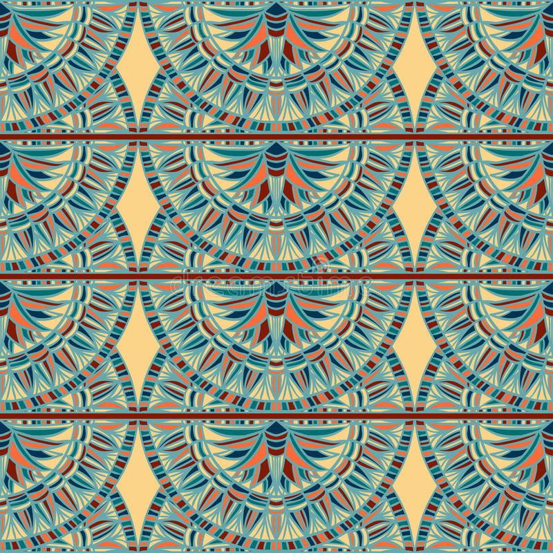 Egypt colorful ornament. Vector pattern stock photography