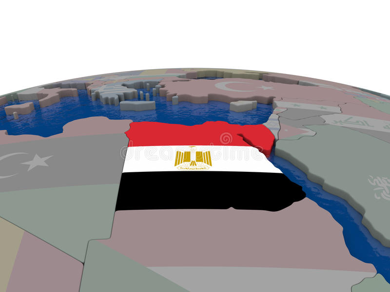 Download Egypt With Flag Stock Illustration - Image: 83716787